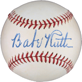 Babe ruth baseball - sports memorabilia